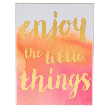 Enjoy the Little Things Watercolor Wood Decor